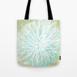 Doodle Flowers in Mint by Friztin Tote Bag