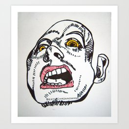 Whitey Art Print