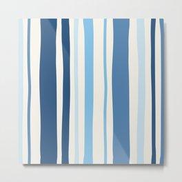 Abstract Striped Blue Art Print Metal Print