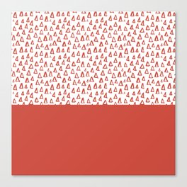 Triangles Fiesta Red Canvas Print
