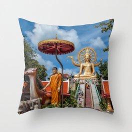 Big Buddha Temple Throw Pillow