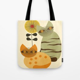 Lovely Cats with Sunflower Tote Bag