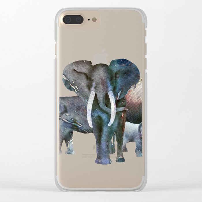 The Elefant Squad Clear iPhone Case