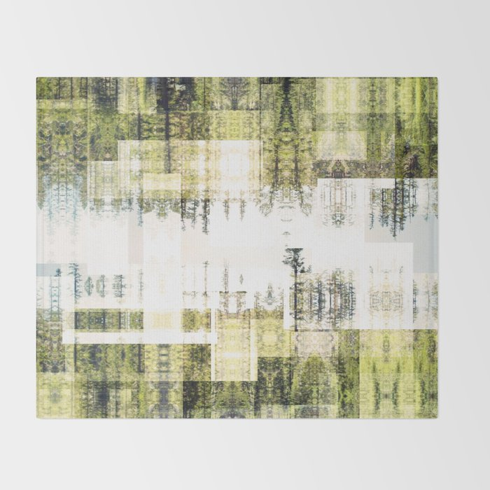 Tape Echo Forest Throw Blanket