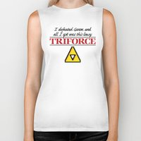 triforce Biker Tanks featuring Lousy Triforce by Mike Handy Art