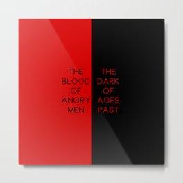 Red & Black - Les Mis Metal Print