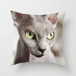 Kitty with attitude Throw Pillow