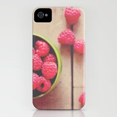 there is something in the red of a raspberry ...  iPhone (4, 4s) Slim Case