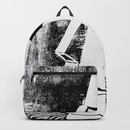 Photo White - Abstract Surrealism Print Backpack