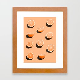 Orange Delight Framed Art Print
