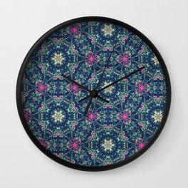 Lanterns & Flowers Wall Clock