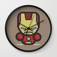 ironman Wall Clocks featuring Ironman by MaNia Creations