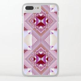 Modern geometric pattern design Clear iPhone Case