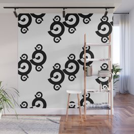 Black and White Shells Pattern Wall Mural