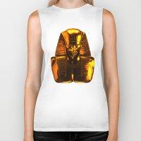 versace Biker Tanks featuring Gangsta Pharaoh II Gold & Versace by KARAM