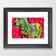 Mr. Zebra Framed Art Print