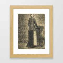 Nurse with a Child's Carriage Framed Art Print