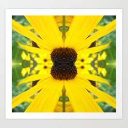 Trippy Sunflower Art Print
