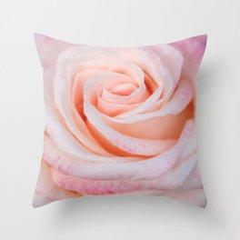 Pink Rose close up Throw Pillow