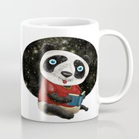red panda Mugs featuring Panda by gunberk