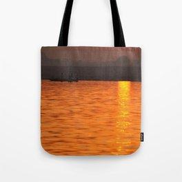 Sunrise on the Ganges Tote Bag