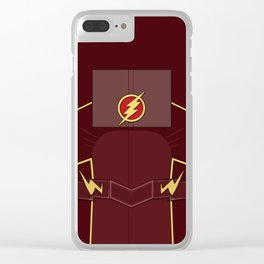Superheroes phone   The Flash #2 version Clear iPhone Case