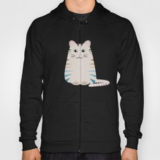 Striped Tabby Cat With Abstract Flowers Design Hoody