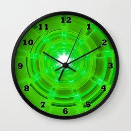Green Scope Wall Clock