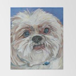 Ruby the Shih Tzu Dog Portrait Throw Blanket