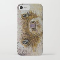 hedgehog iPhone & iPod Cases featuring Hedgehog by Michael Creese