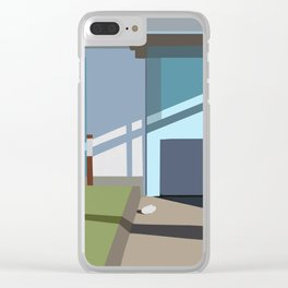 the garage Clear iPhone Case