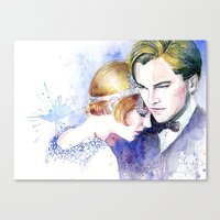 the great gatsby Canvas Prints featuring Great Gatsby by Johnny Rockets
