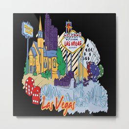 Las Vegas USA Metal Print