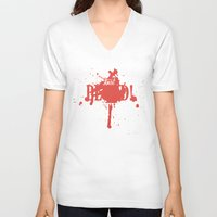 dota V-neck T-shirts featuring First Blood! Bloodseeker by DotaZone Store