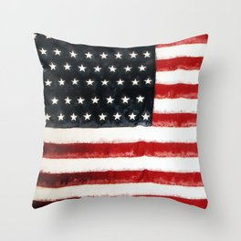 USA Flag ~ American Flag ~ Ginkelmier Inspired Throw Pillow