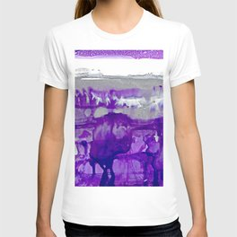 Winter in Purple and Silver T-shirt