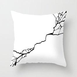 Diagonal Destroyed Light Throw Pillow