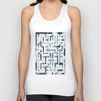 bathroom Tank Tops featuring Which Way To The Bathroom? by Chris Varnum