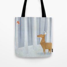 Origami deer in the Woods Tote Bag