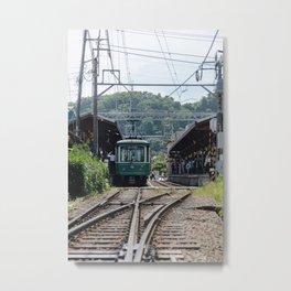 Kamakura Enoden Metal Print