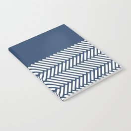 Herringbone Boarder Navy Notebook
