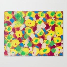 Interesting Thoughts by Australian Young Artist Lang Jing Niya Potdar – Acrylic Painting on Canvas Canvas Print