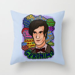 The 11th Doctor Throw Pillow