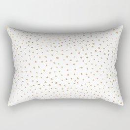 Dotted Gold Rectangular Pillow
