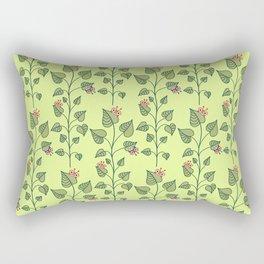 Cute Bugs Eat Green Plant Nature Lover Rectangular Pillow