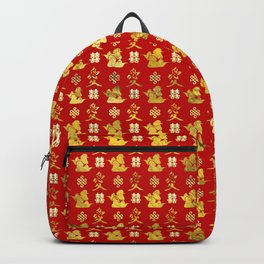 Mandarin Ducks, love and eternal knot pattern Backpack