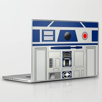 r2d2 Laptop & iPad Skins featuring R2D2 Robot by Andrian Kembara
