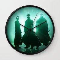 matrix Wall Clocks featuring The Matrix by Mikko