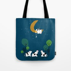 A cow jump over the moon Tote Bag