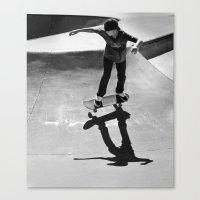 skateboard Canvas Prints featuring Skateboard by Chiarra Mandato